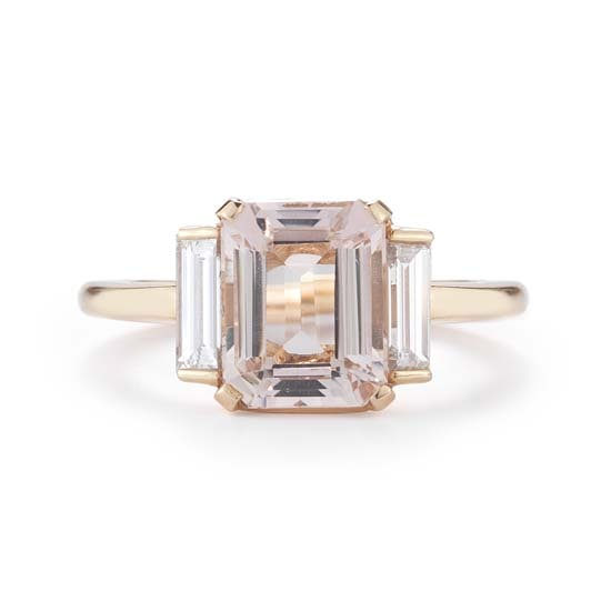 The Morganite Rosie Ring 18k Rose Gold | Marisa Perry by Douglas Elliott
