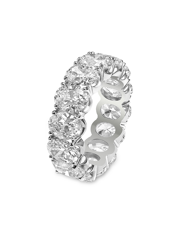 12.75 Carat Oval Eternity Band