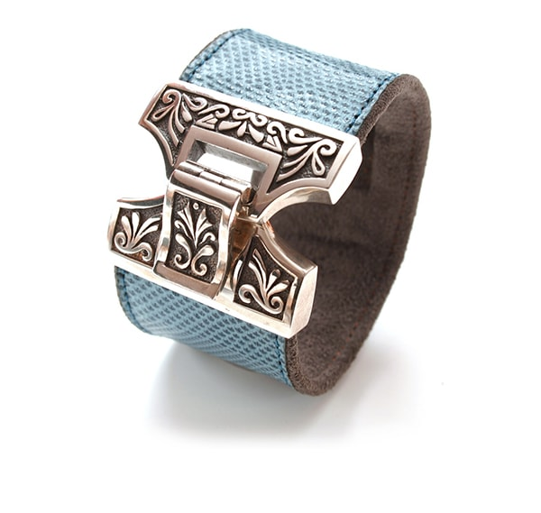 Silver Marrakesh Croco Cuff