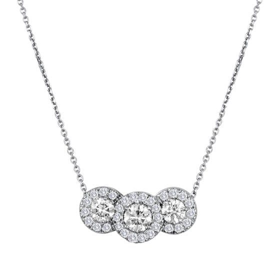 Forevermark Three Stone Pendant by Galili & Co