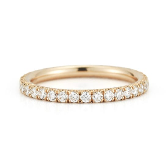 Two Point Diamond Micro Pave Eternity Band 18K Rose Gold | Marisa Perry by Douglas Elliott