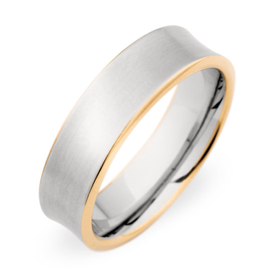 Christian Bauer Palladium and 18K Rose Gold Band