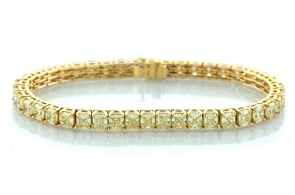 Fancy Yellow Diamond Tennis Bracelet