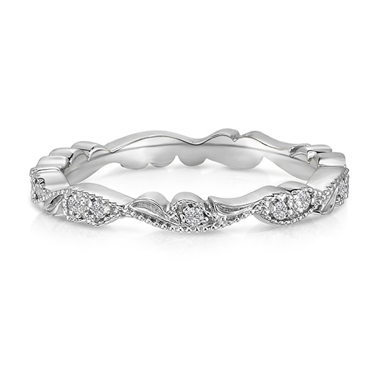 Wedding Bands For Women.Chantilly Lace Band Platinum