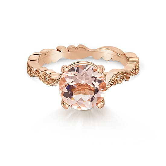 Morganite Chantilly Lace Ring | Marisa Perry by Douglas Elliott