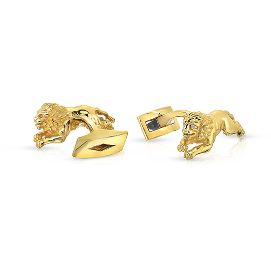 Yellow Gold Lion Cufflinks