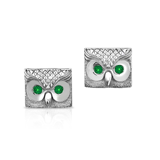 Emerald Owl Cufflinks