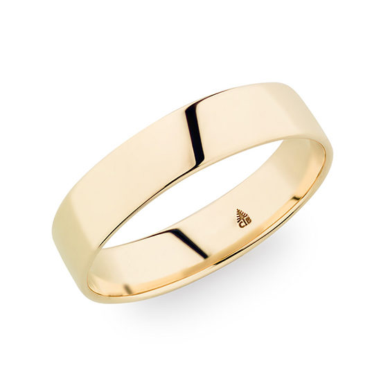 Christian Bauer High Polish Golfers Band 18K Yellow Gold