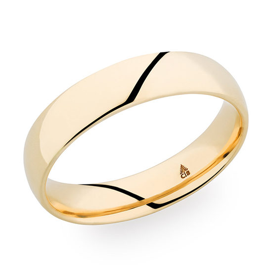 Christian Bauer High Polish Finish Band 18K Yellow Gold