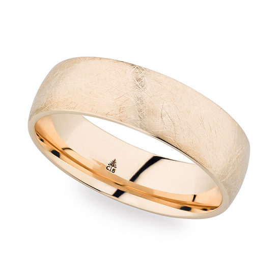 Christian Bauer Fiberglass Finished Band 14K Rose Gold