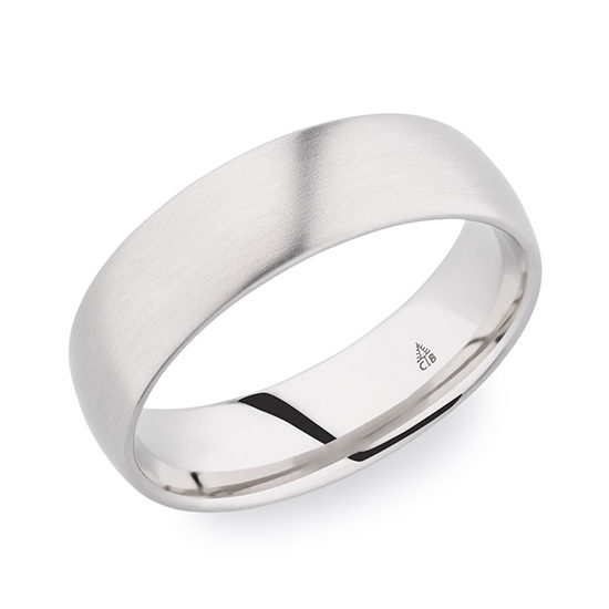 Christian Bauer Satin Finished Band 18K White Gold