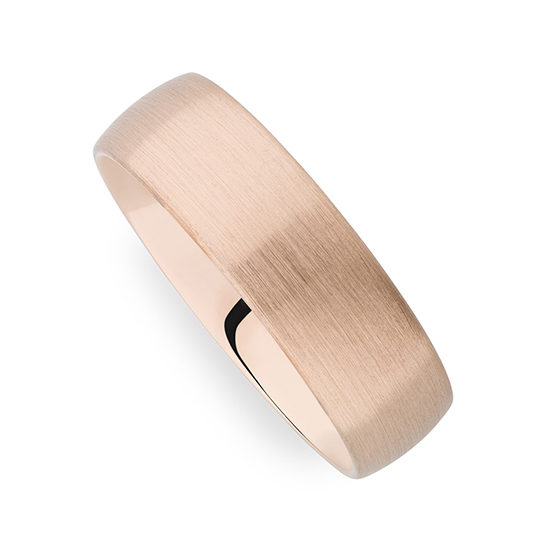 Christian Bauer Satin Finished Band 14K Red Gold