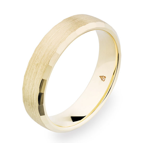 Christian Bauer Beveled Edge 5.5mm Band Yellow Gold