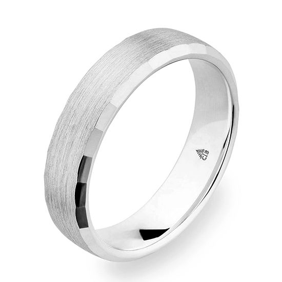Christian Bauer Beveled Edge 5.5mm Band Platinum