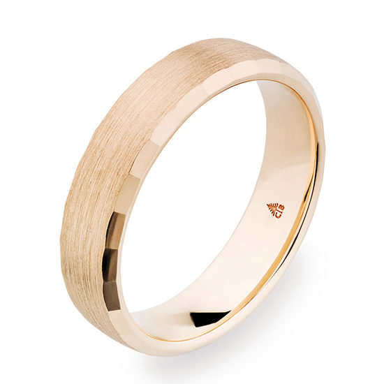 Christian Bauer Beveled Edge 5.5mm Band Rose Gold