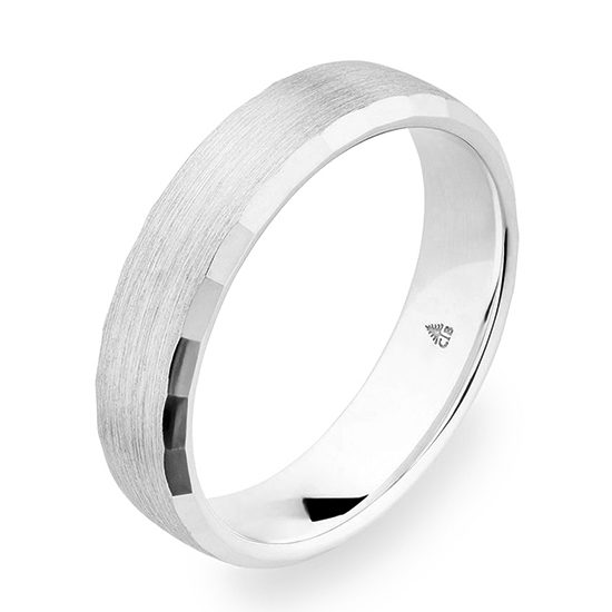Christian Bauer Beveled Edge 5.5mm Band White Gold