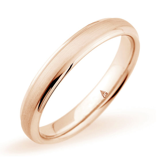 Christian Bauer Brushed Finish Band 14k Rose Gold