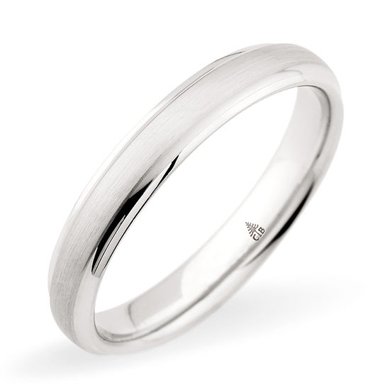 Christian Bauer Brushed Finish Band 14k White Gold