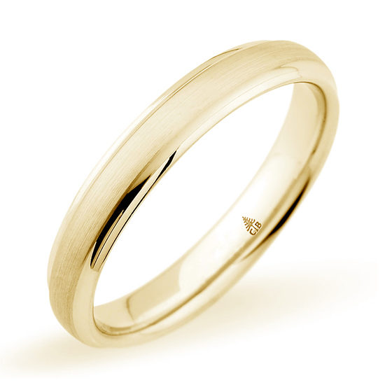 Christian Bauer Brushed Finish Band 18k Yellow Gold