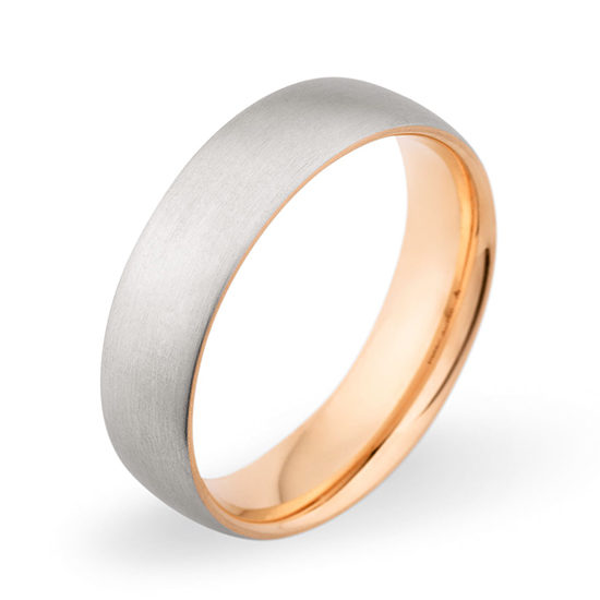 Christian Bauer Mixed Metal Band 18K Rose Gold and Platinum