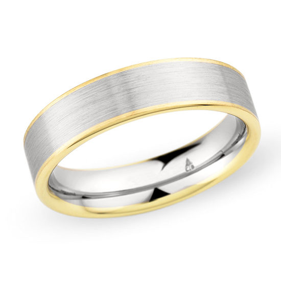 Christian Bauer Two Tone Band 18k Yellow Gold and Platinum