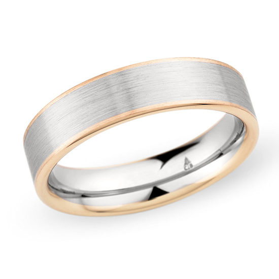 Christian Bauer Two Tone Band 18k Rose Gold and Platinum