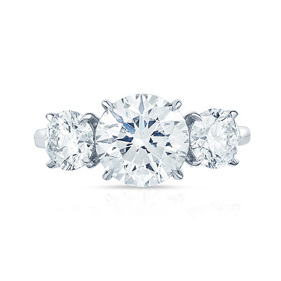 The Three Stone Round Brilliant Engagement Ring | Marisa Perry by Douglas Elliott