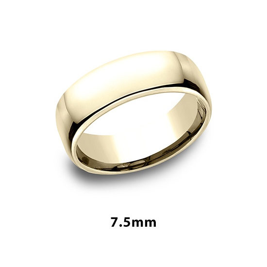 European Comfort Fit Band 18k Yellow Gold