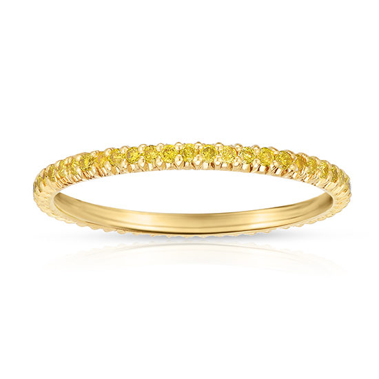 Yellow Diamond Micro Pave Eternity Band 18k Yellow Gold | Marisa Perry by Douglas Elliott
