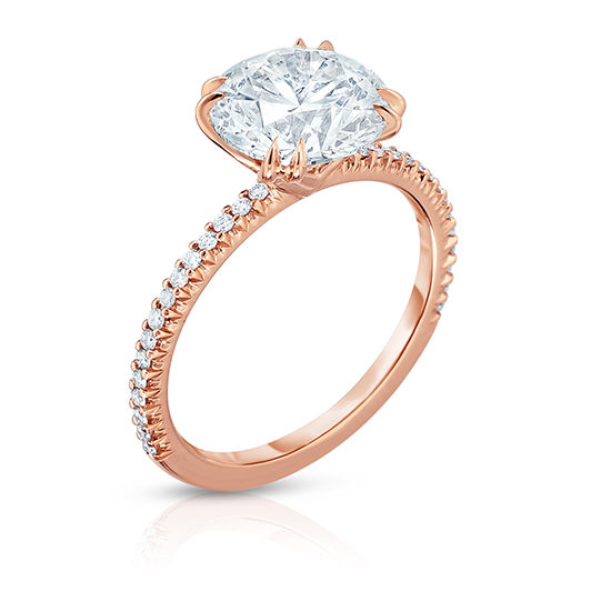 The DE Diamond Solitaire 2000 18k Rose Gold | Marisa Perry by Douglas Elliott