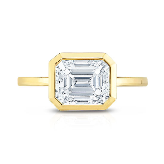 Emerald Cut East West Setting | Marisa Perry by Douglas Elliott