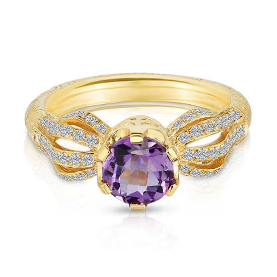 Vintage Rainbow Ring with Amethyst and Diamonds | Marisa Perry by Douglas Elliott