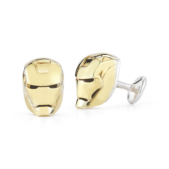 Superhero Cufflinks Sterling Silver with 18k Yellow Gold Plating | Marisa Perry