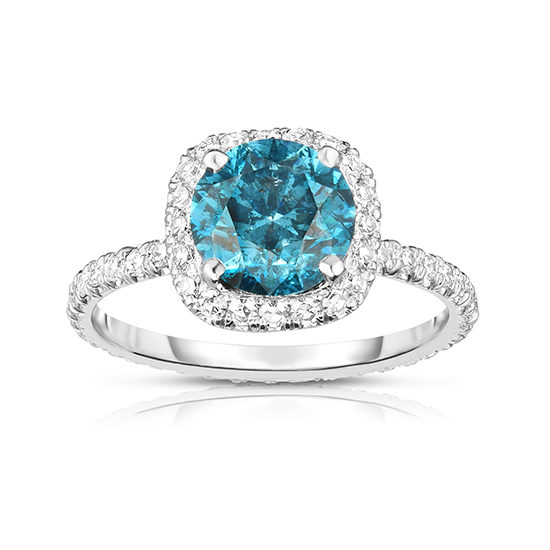 Irradiated Blue Diamond InLove Engagement Ring | Marisa Perry by Douglas Elliott