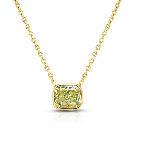 Fancy Greenish Yellow Diamond Pendant | Marisa Perry by Douglas Elliott