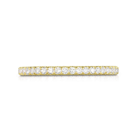 One Point Micro Pave Diamond Band 18K Yellow Gold | Marisa Perry by Douglas Elliott