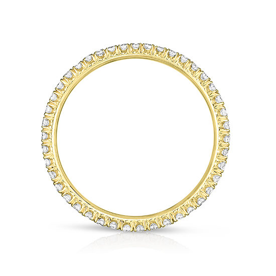 One Point Micro Pave Diamond Band 18K Yellow Gold   Marisa Perry by Douglas Elliott