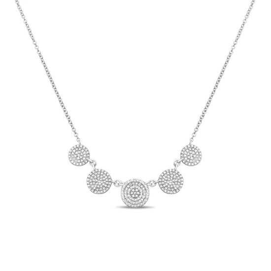 Five Circle Diamond Pave Necklace