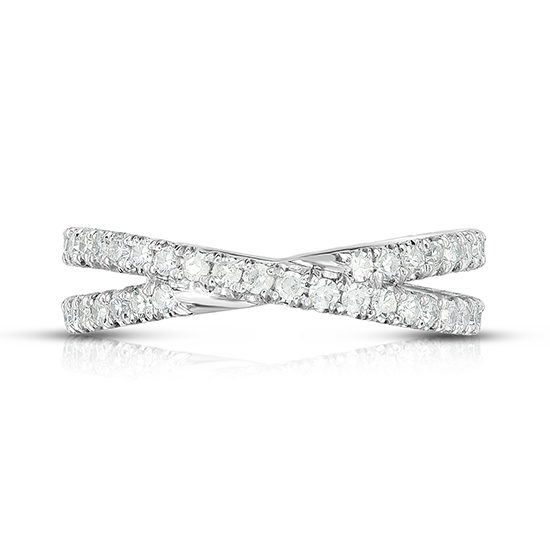 Diamond Micro Pave Criss Cross Band | Marisa Perry by Douglas Elliott