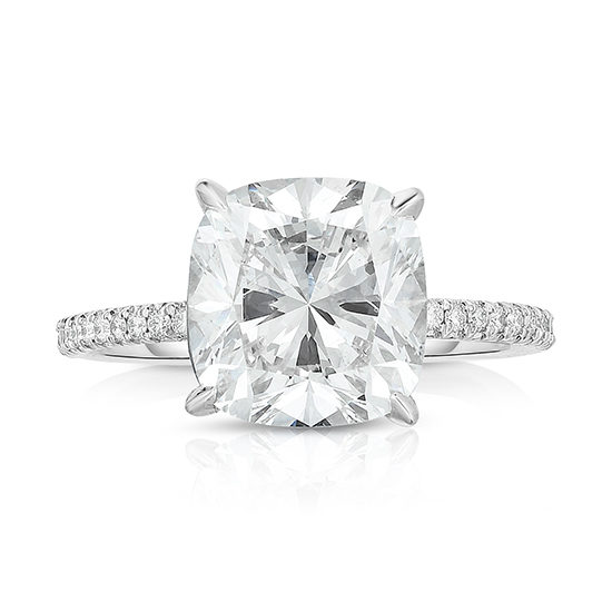 The DE Cushion Cut Love Solitaire | Marisa Perry by Douglas Elliott