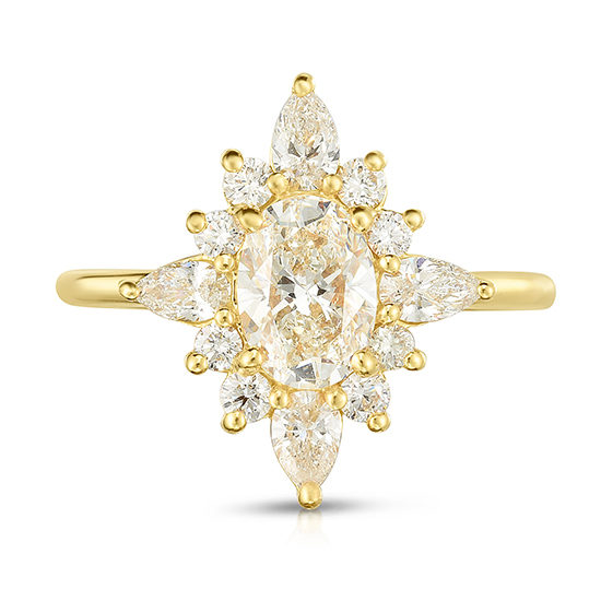 Diamond Cluster Ring 18K Yellow Gold| Marisa Perry by Douglas Elliott
