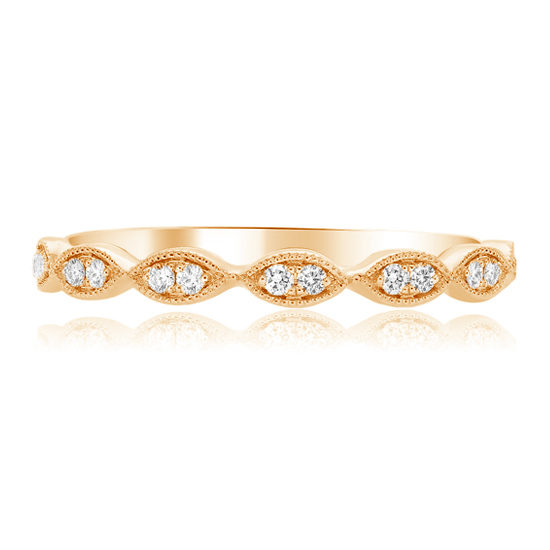 Diamond Milgrain Marquise Band