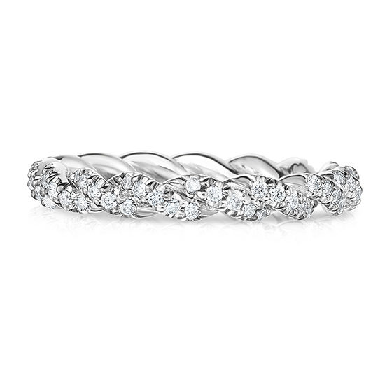 The Dragon Twist Wedding Band With Diamonds Platinum | Marisa Perry by Douglas Elliott