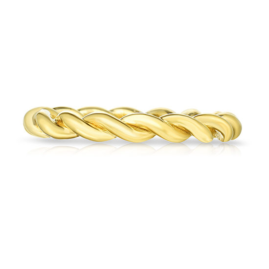The Dragon Twist Wedding Band 20K Yellow Gold | Marisa Perry by Douglas Elliott