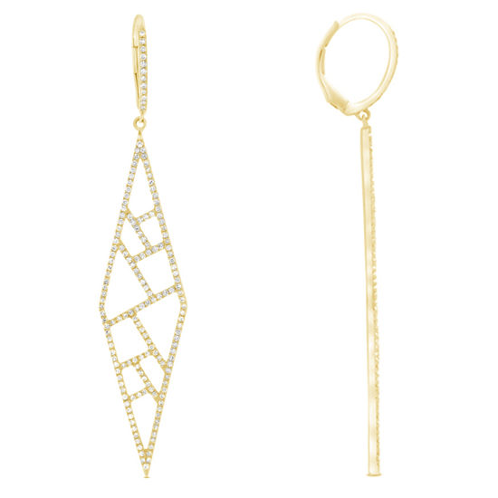 Geometric Diamond Pave Dangle Earrings