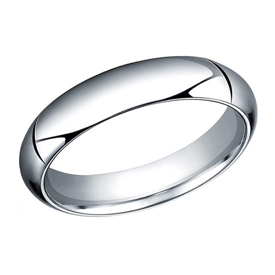High Dome Comfort Fit Men's Wedding Band Platinum