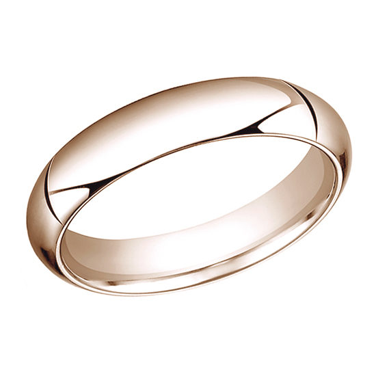 High Dome Comfort Fit Men's Wedding Band 14K Rose Gold