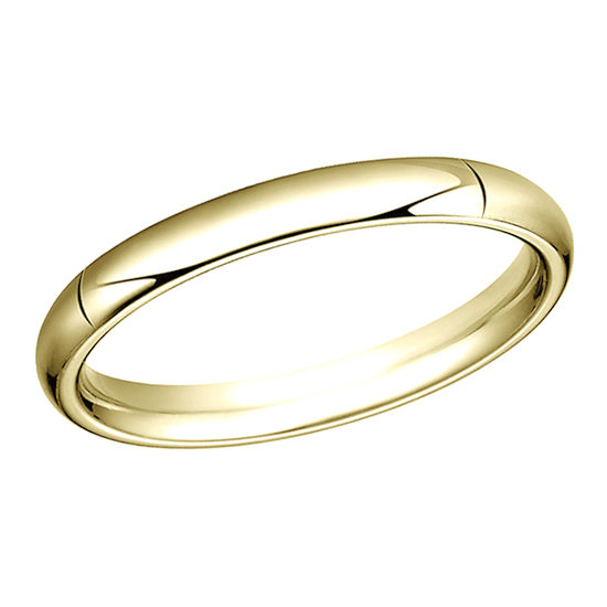 High Dome Comfort Fit Men's Wedding Band 14K Yellow Gold
