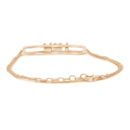 Sliding I Love You Diamond Bracelet