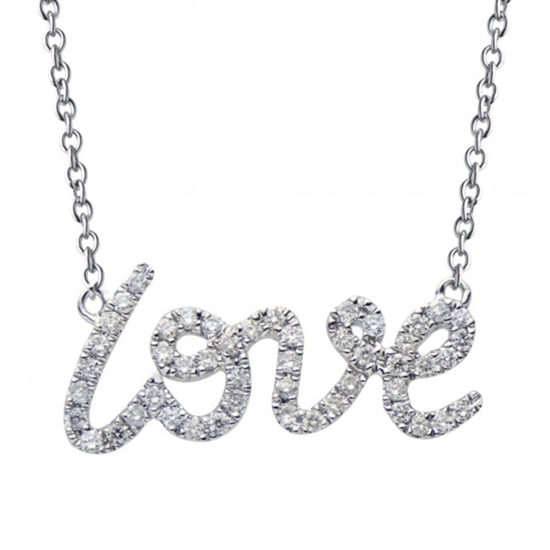 Diamond Love Pendant 18k White Gold